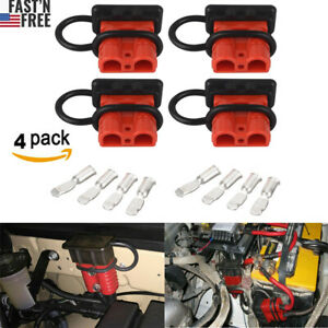 4pcs Quick Battery Connector Winch Trailer Connect disconnect Wire Harness Plug