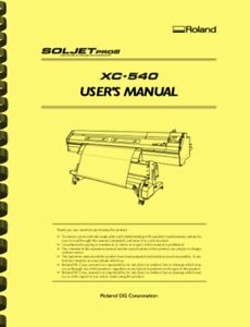 Roland Soljet Pro Iii Xc540 Printer Cutter Owner s Manual
