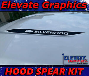 For Chevy Silverado Hood Spear Stripes Vinyl Graphics 3m Decal Sticker 2019 2021