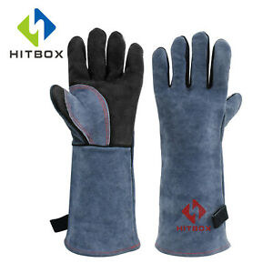 16 Inch Leather Welding Gloves For Tig Welders mig fireplace stove bbq gardening