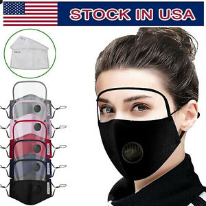 Face Cover With Eyes Shield Reusable Face Mask Free For 2 Filters usps Free