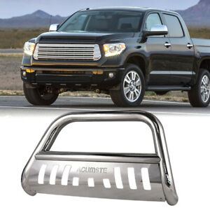 Stainless Steel Chrome Bull Bar Grille Push Guard For Toyota Tundra 2007 2018