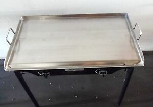 Heavy 32 Wide Stainless Steel Flat Top Double Griddle Grill New