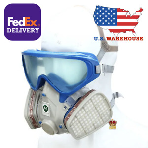 Silicone Full Face Respirator Gas Mask Goggles Comprehensive Cover Paint New