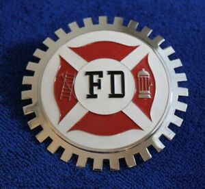 Fd Fire Department Grille Badge Bumper License Topper Accessory Truck