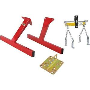 Speedway Sbc V8 Engine Storage Stand With Lift Plate Leveler