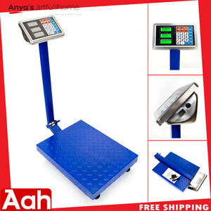 300kg 661lbs Lcd Digital Personal Floor Postal Platform Scale Weight Price Tools