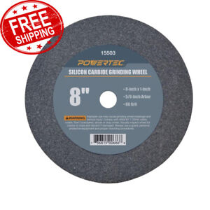 Grinding Wheel 8 X 1 X 5 8 60 Grit Silicon Carbide Bench Grinder Disc Tool