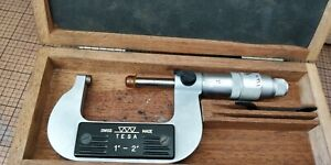 Vintage Swiss Tesa 1 2 Outside Micrometer In Box Calibrated