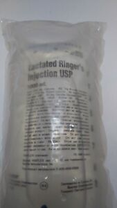 Baxter Iv Bags 1000ml Lactaid Ringer Hydrate Emergency Survival Fluids Emt Mask
