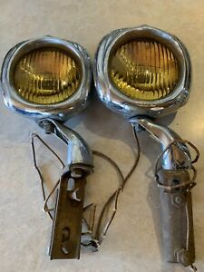 2 Vintage Original Accessory Electroline 54 Fog Lights A Pair Of Them very Rare