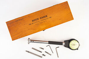 Boice Dial Bore Gage Model 4 1 3 4 3 Inch Range With Accessories