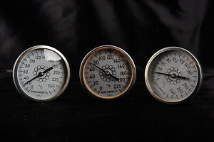 Lot Of 3 Fisher Scientific 8 Inch Analog Dial Probe Thermometers V15