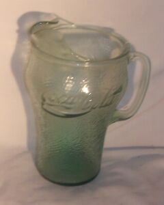 COCA COLA GLASS PITCHER IN VERY GOOD CONDITION