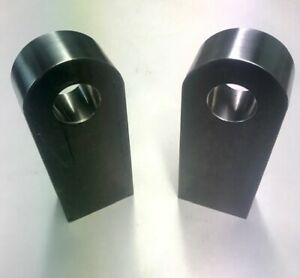 Pair Of Basic Thru Bumper Shackle Mounts For Use With 3 4 Bow Shackles