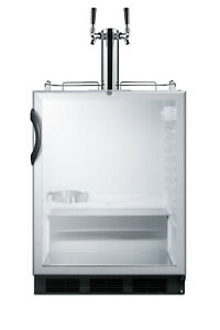 Summit Sbc56gbiada 24 w 5 5 Cu Ft Built in Commercial Double Glass