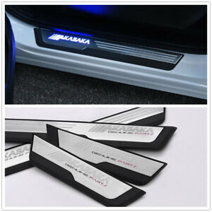Led Moving Welcome Light Door Sill Scuff Plate Pedal For Honda Cr V Crv 17 19 Us