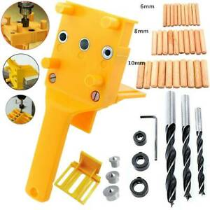 Woodworking Doweling Jig Drill Guide Wood Dowel Drill Hole Tool Kit 6 8 10mm