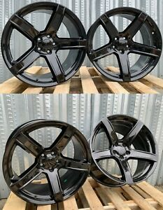 20 Inch Gloss Black Wheels 20x9 5 20x10 5 Fits Dodge Charger Challenger Set 4