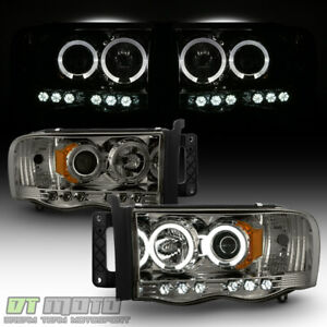 6leds Smoke 2002 2005 Dodge Ram 1500 03 05 2500 3500 Halo Projector Headlights