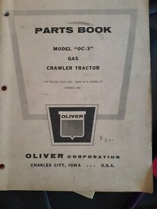 Oliver Corp Crawler Tractor Gas Model Oc 3 Parts Book