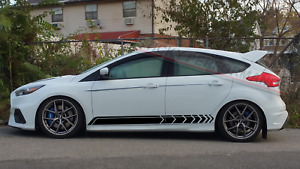 For Ford Focus St Rs 2012 2020 Decals Body Kit Stickers Bumper Cover Accessories