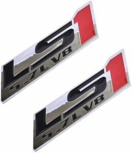 Ls1 5 7l V8 Engine Emblems Badge replacement For Gm Chevy Chevrolet red