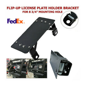 Flip Up Roller Fairlead Mounted License Plate Holder For Winch Roller Fairlead