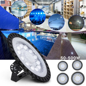 Led High Bay Light 50 100 200 300 500w Low Bay Ufo Warehouse Industrial Lights