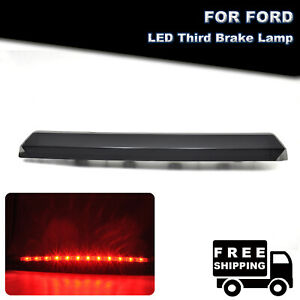 Smoked Led 3rd Third Rear Brake Light Tail Stop Lamp For 1999 2004 Ford Mustang