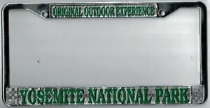 Yosemite National Park California Outdoor Experience License Plate Frame
