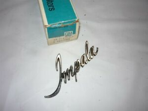 1971 1972 1973 Chevrolet Impala Roof Panel Emblem Gm Nos 9837199