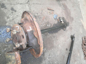 1968 Ford Tbird Thunderbird Coupe Left Rear Axle Hub Backing Plate Studs Nuts