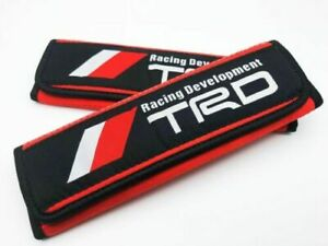 Jdm Keys Racing Red Trd Development Drift Seat Belt Shoulder Pad Cover