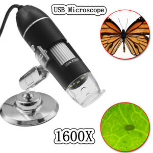 8led 2mp Usb Camera Magnifier stand 1600x Digital Microscope Endoscope Zoom New