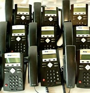 Lot 9 Polycom Ringcentral Ip 335 Voip Phone Handset Only No Power Supply