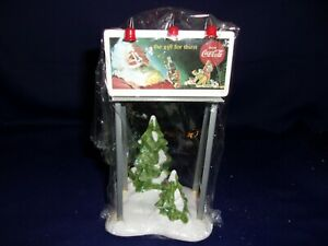 Dept. 56 Snow Village Coca Cola Billboard Accessory - #5481-0  NIB