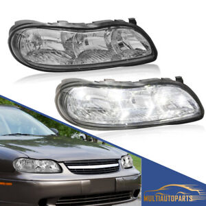 1 Pair Headlights Clear Corner Lamps For 97 03 Chevy Malibu 04 05 Chevy Classic