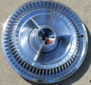 1 1965 Ford Thunderbird 65 T Bird Landau 15 Spinner Hubcap Wheel Cover Oem