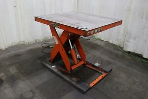 48 X 42 Presto Hydraulic Scissor Lift Table Yoder 73277