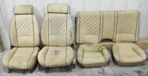 1982 1992 Chevrolet Camaro Cloth Seat Set Used Oem Gm cores Hot Rod Swap