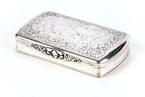 Antique Hand Chased Sterling Silver Box