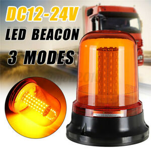 Led Car Bus Beacon Strobe Emergency Warning Alarm Flash Light Amber Dc12 24v H