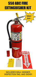 Fire Extinguisher 10lb Abc Dry Chemical scratch dent