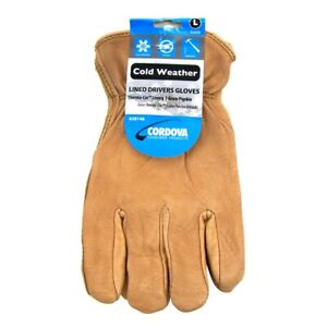 Insulated Heavy Duty Leather Men s Driving Work Protective Outdoor Safety Gloves