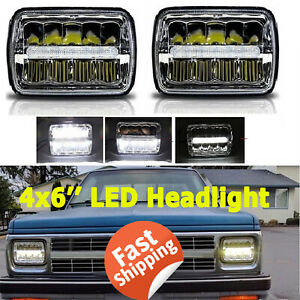 Led Headlight Drl High Low Projector Sealed Beam 4x6 Inch For Chevrolet Camaro