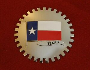 Texas Flag Grille Badge Bumper License Topper Accessory Lone Star Tx Truck