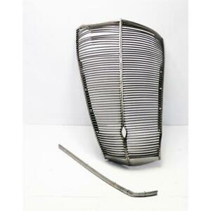 1937 Ford Car Grille W Crank Hole Natural Steel Finish