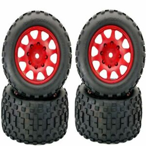 Powerhobby Scorpion Xl Belted Tires Viper Wheels 4 Arrma Kraton Outcast 8s Red