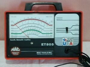 Mac Tools Tach Dwell Volts Meter et805 4 6 or 8 Cylinder